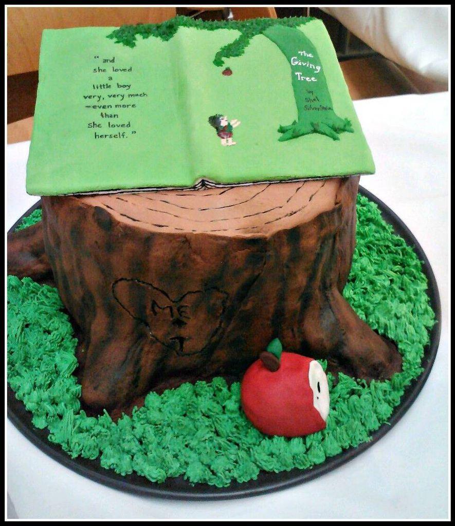 The Giving Tree wedding cake