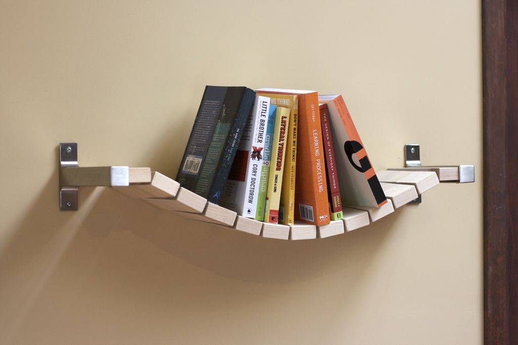 rope bridge bookshelf