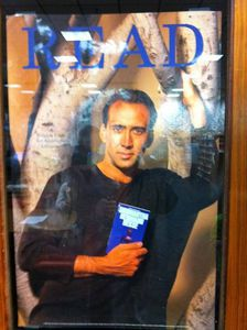 Nick Cage Read Poster