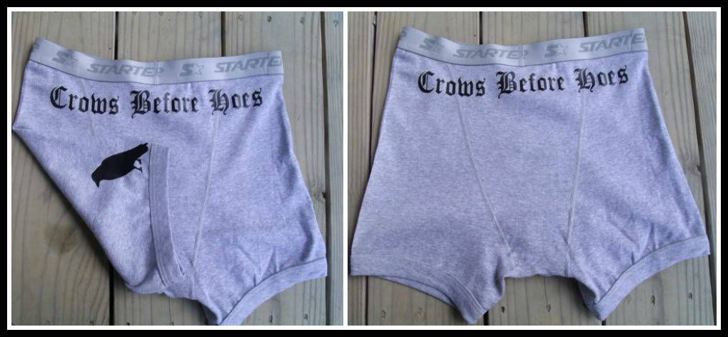 """""""Crows before hoes"""" Game of Thrones underwear."""
