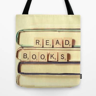 Read Books Scrabble Bag