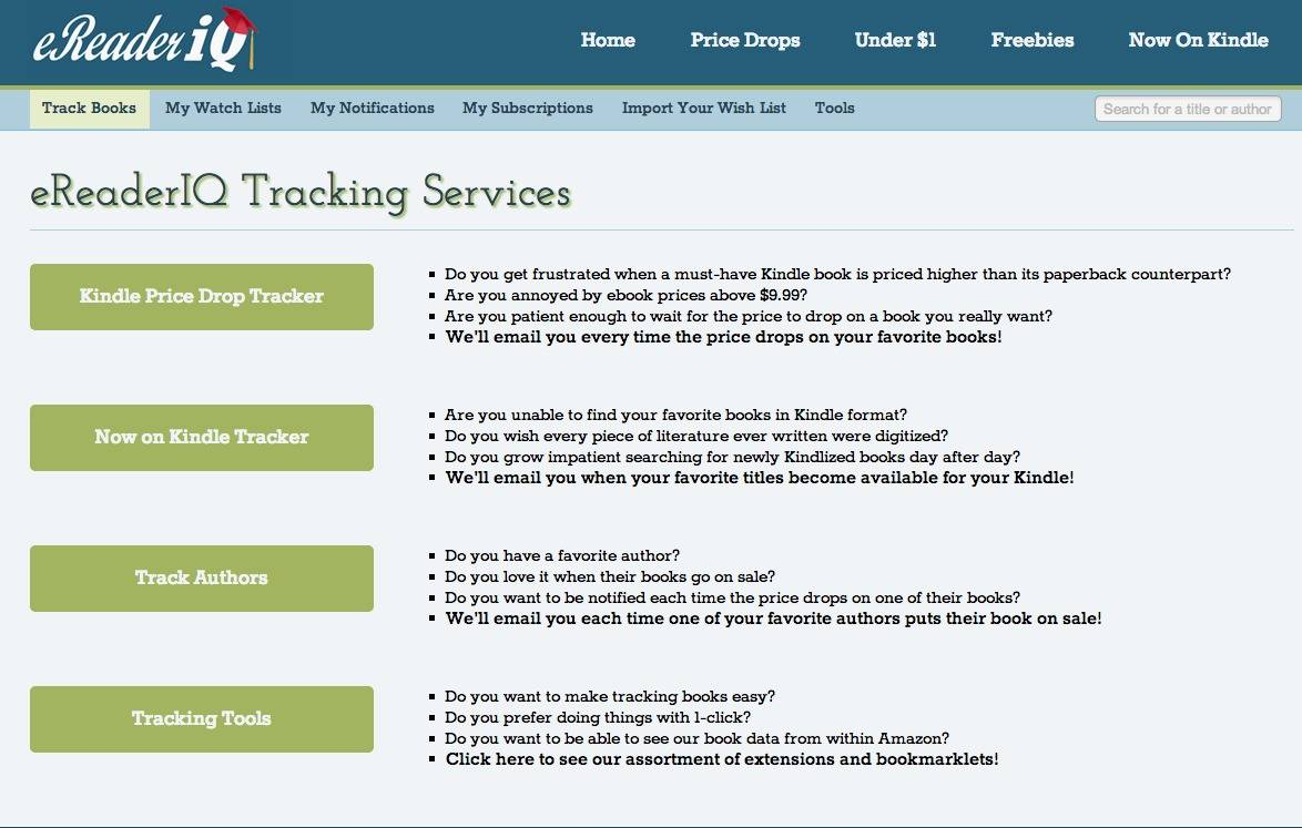 Track kindle ebook bargains with ereaderiq fandeluxe Images