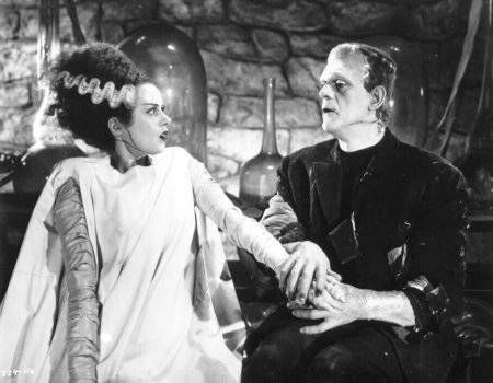 "A photo from BRIDE OF FRANKENSTEIN, maybe the finest early horror film. The line ""WE BELONG DEAD"" gives me chills, even just remembering it."