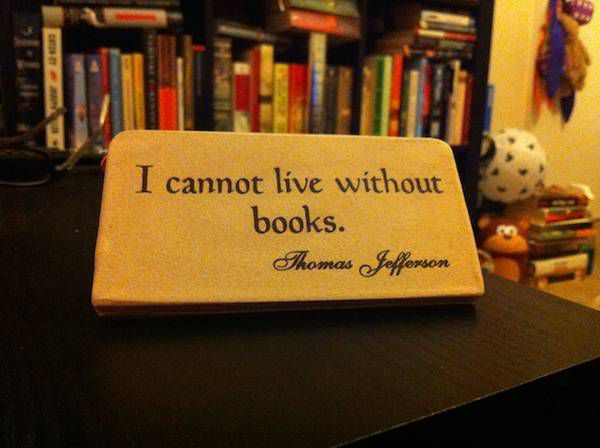 i cannot live without books plaque