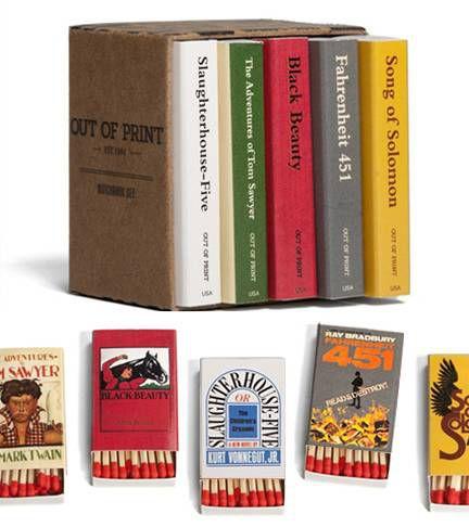 literary matchbooks