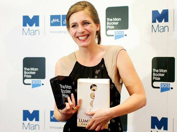 Eleanor Catton won this year for THE LUMINARIES