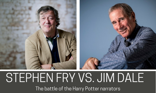 The Battle of the HARRY POTTER Audiobooks Narrators: Fry Vs. Dale | BookRiot.com