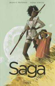Saga by Brian K. Vaughan and Fiona Staples