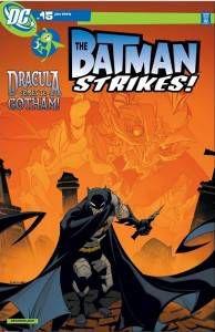 Dracula on a Batman cover.