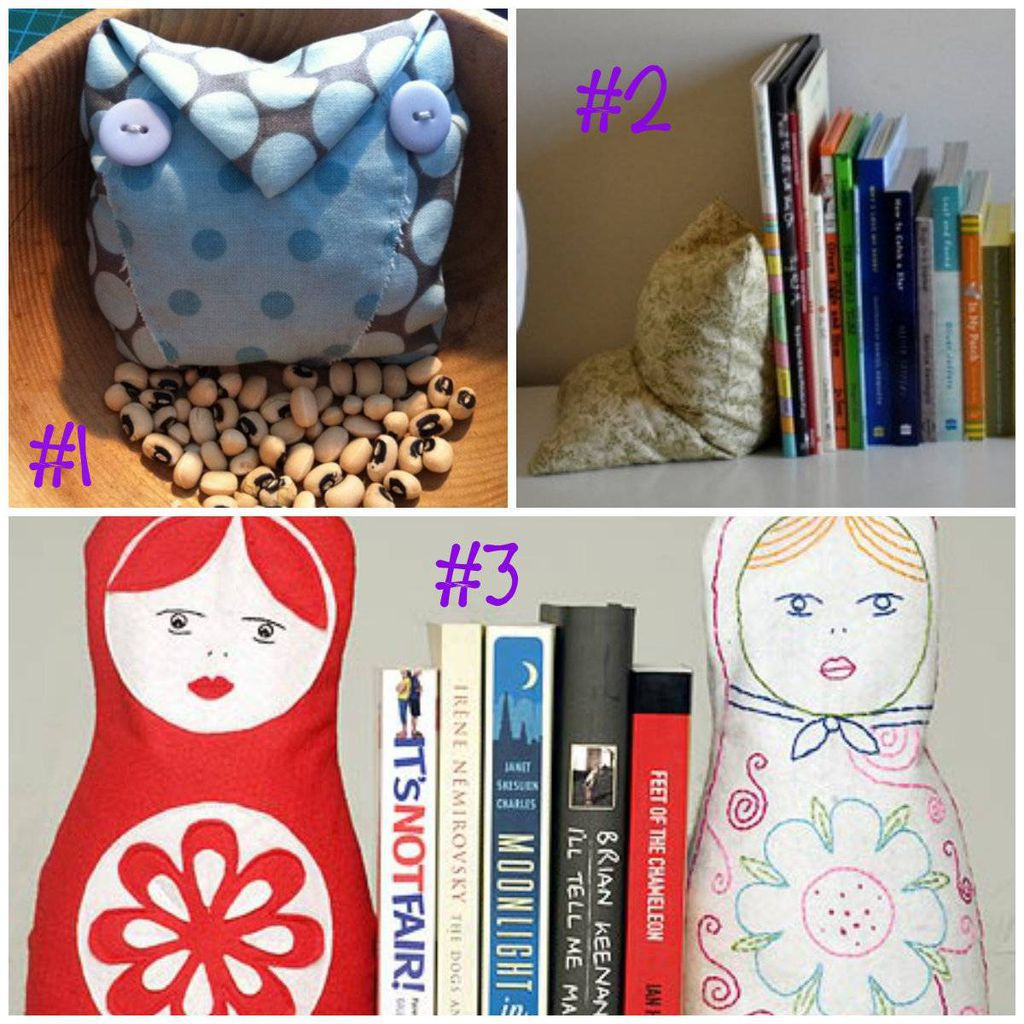 Bean Bag Bookend collage