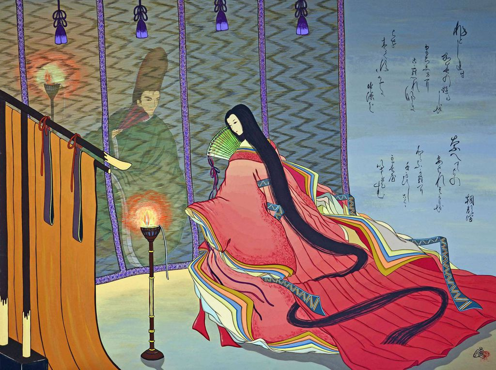 Tale of Genji by the purifying wind
