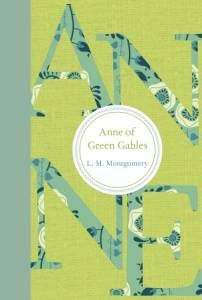 Anne of Green Gables by LM Montgomery green book cover