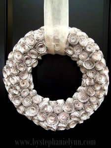 diy paper flower christmas wreath