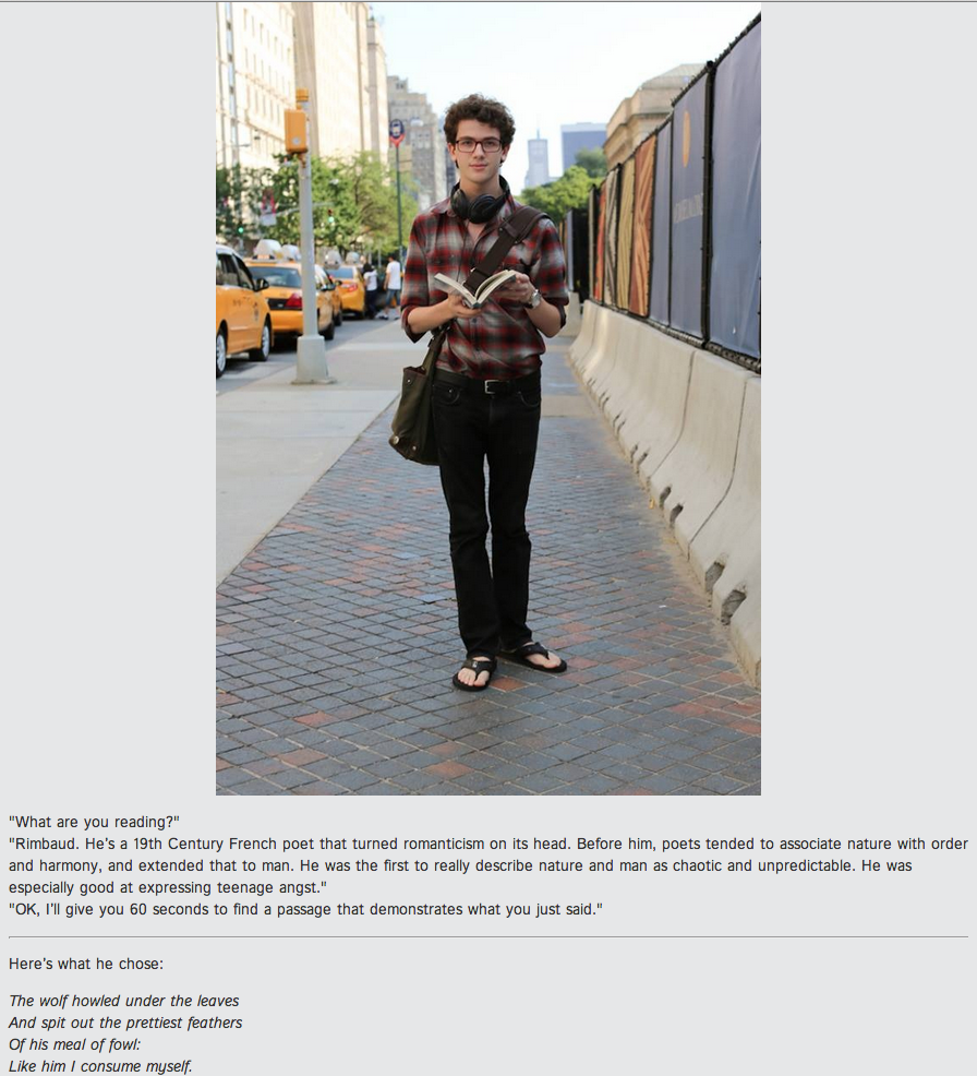 Humans of New York literary post