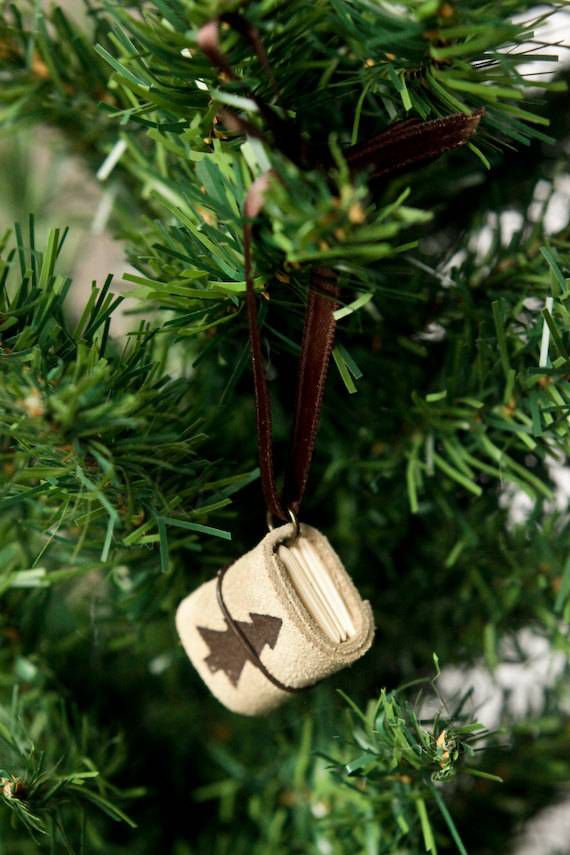 leather journal ornament
