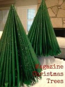 magazine christmas tree