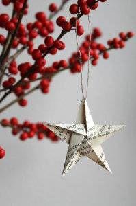 origami star paper ornament