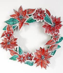 paper flowers watercolor wreath