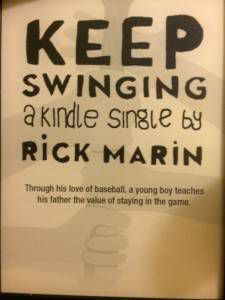 Baseball book ad from Kindle with Special Offers
