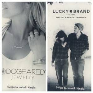 jeans and jewelry ads from kindle with special offers