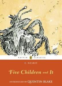 Cover of E Nesbit Five Children and It feminist genre fiction