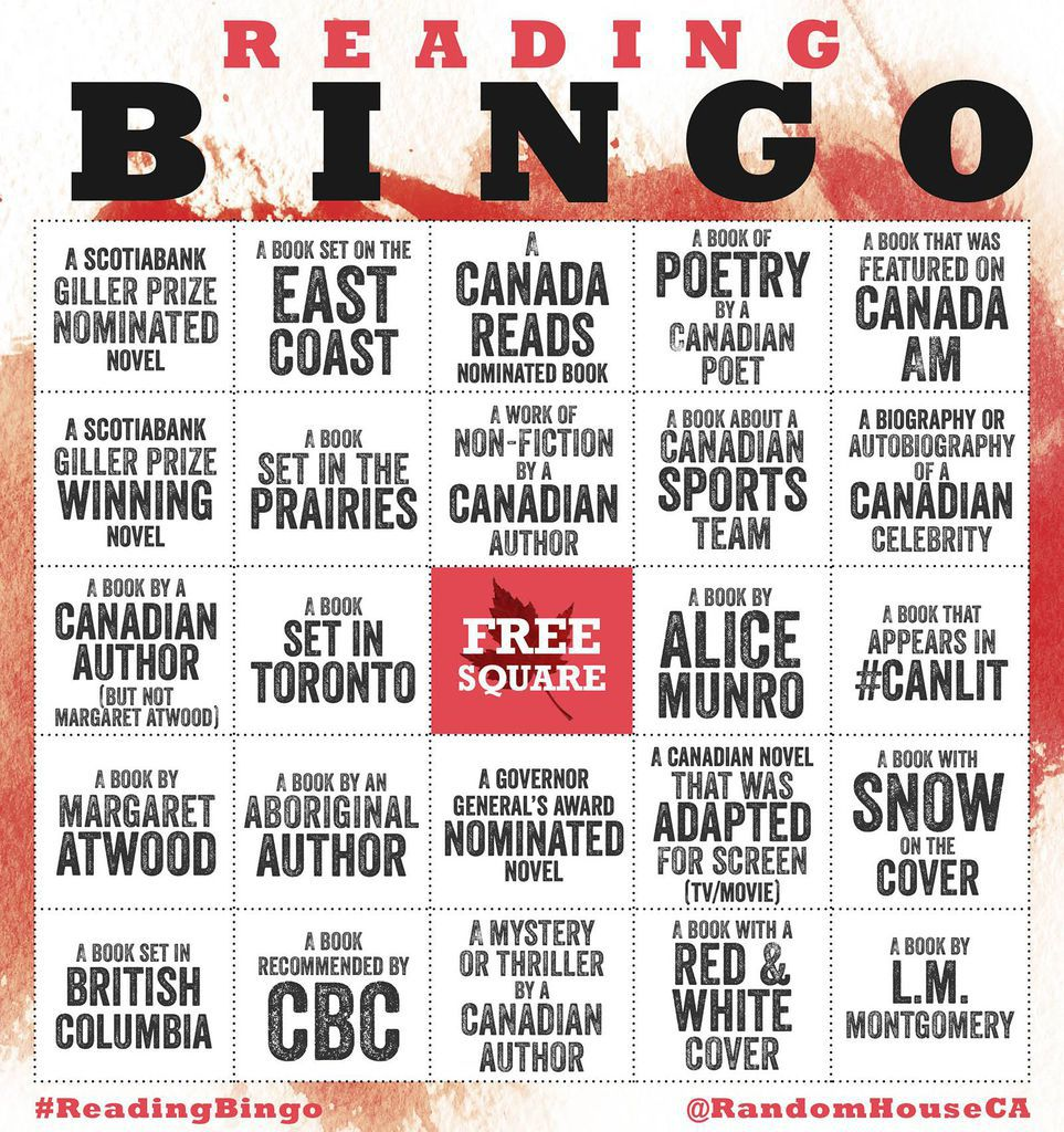 Reading Bingo by Random House Canada