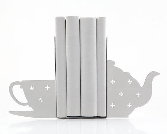 book tea bookends