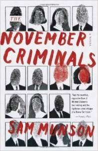 November Criminals Sam Munson book cover