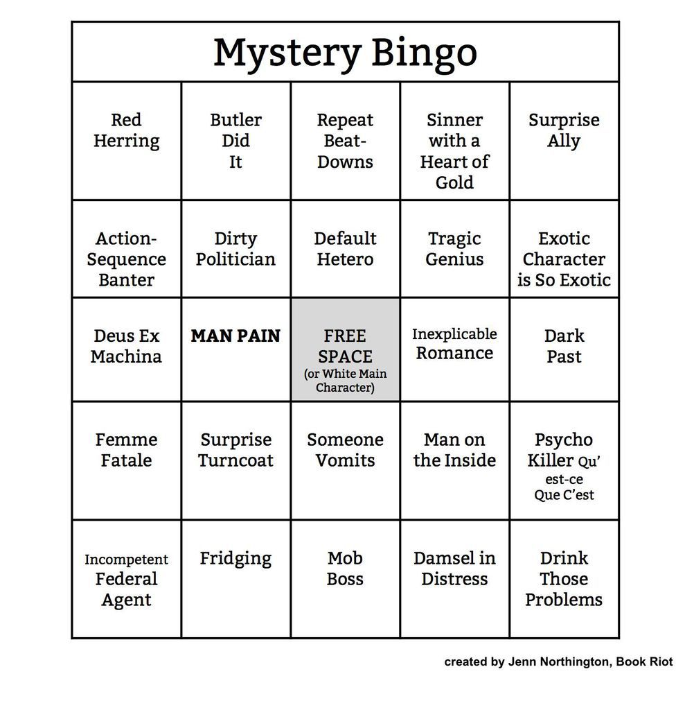 Bingo Card: Mystery