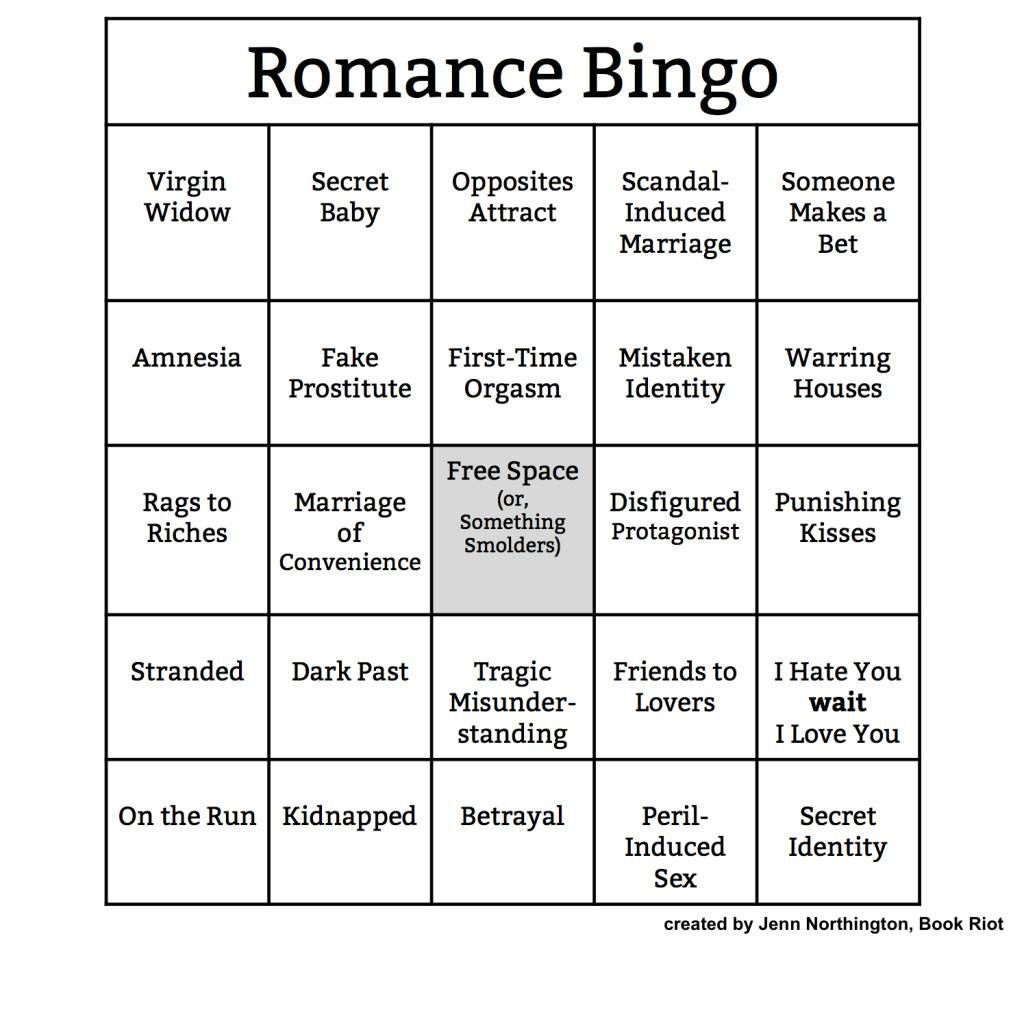 Bingo Card: Romance
