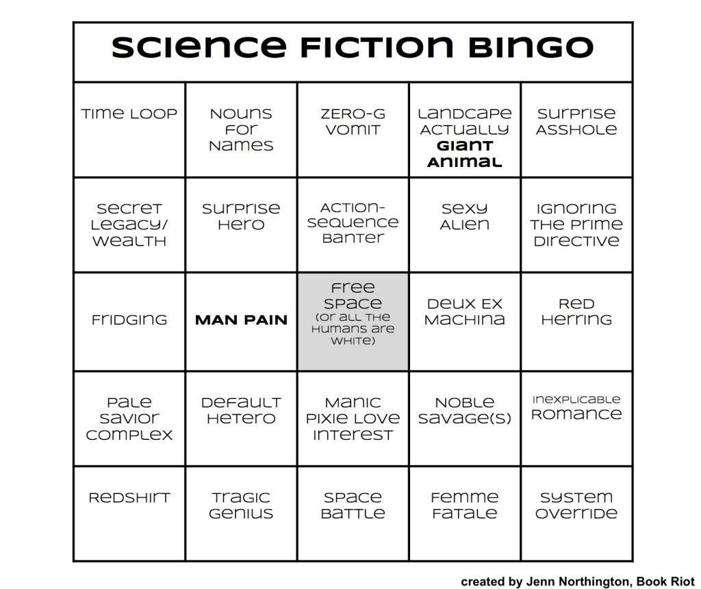 Bingo Card: Science Fiction