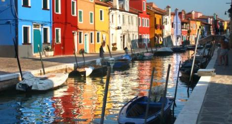 Gondola to Murano Island, Venice Italy