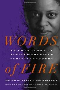 cover of words of fire a black history book