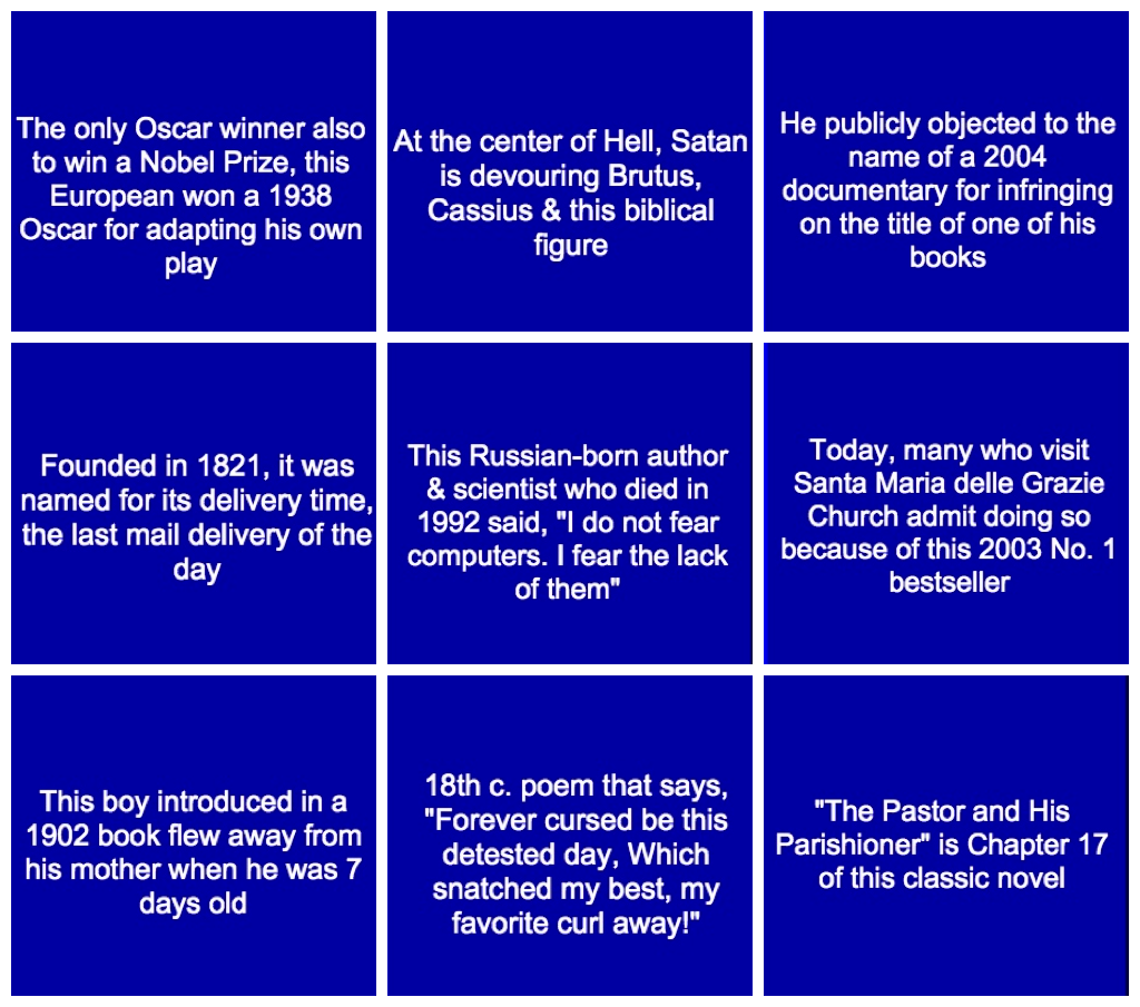 Can You Answer These Literary Questions From Jeopardy?