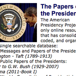 Reference Resources: The American Presidency Project