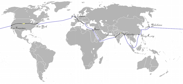 Around the World in Eighty Days Map