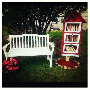 Little Free Library in Fenton, Michigan