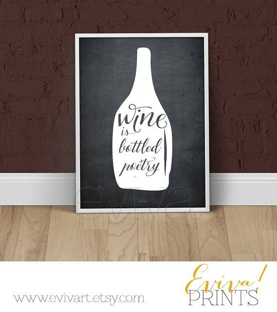 Wine quote art from Evivart Etsy shop