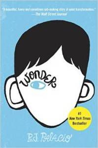 Wonder by R. J. Palacio book cover - books for 6th graders