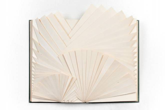 Folded book art by Claire Ranson