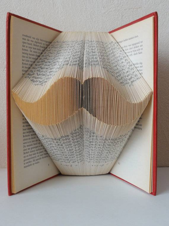 Folded Book Art Part - 29: Folded Book Art From The Folded Book Page Etsy Shop