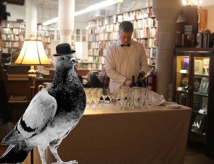 Pigeon with Cocktails at Strand