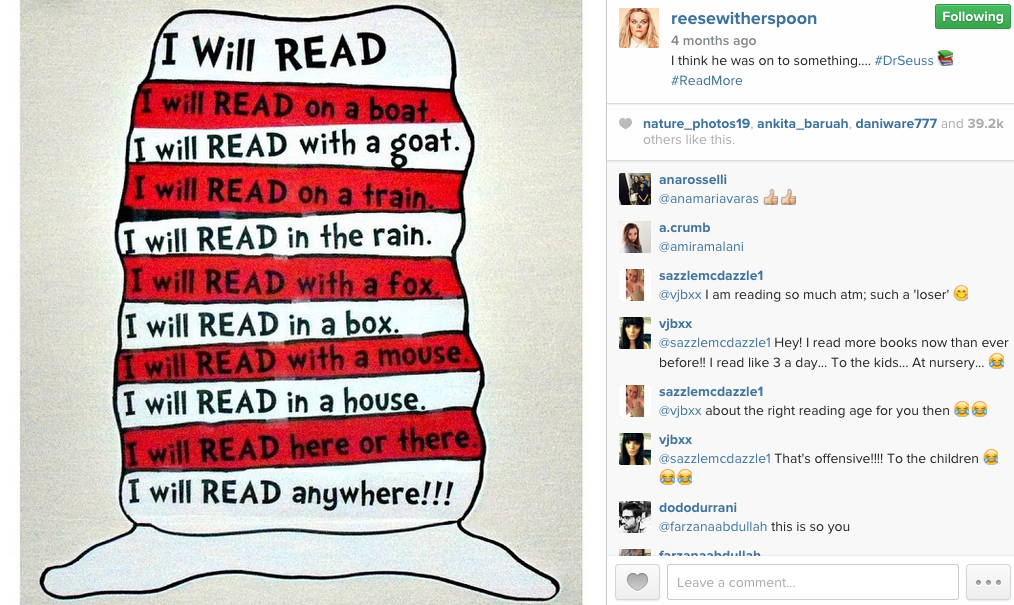 Bookish Reese Witherspoon