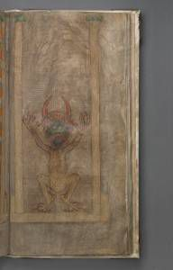 National Library of Sweden, Codex gigas, or The Devil's Bible, The Devil, 290 r.