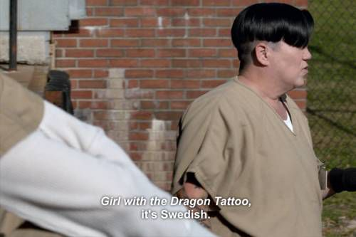 OITNB Books Boo The Girl With the Dragon Tattoo