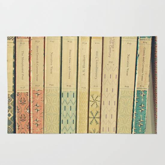 old books rug