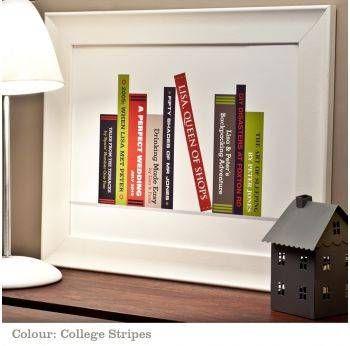 custom bookshelf print