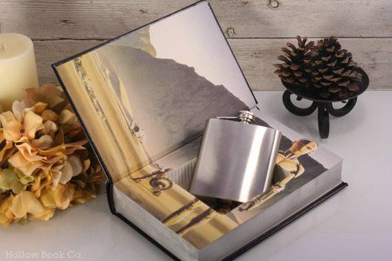 hollow book co book flasks