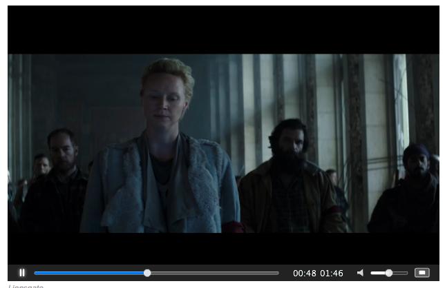 Mockingjay Part 2 screenshot of Gwendoline Christie