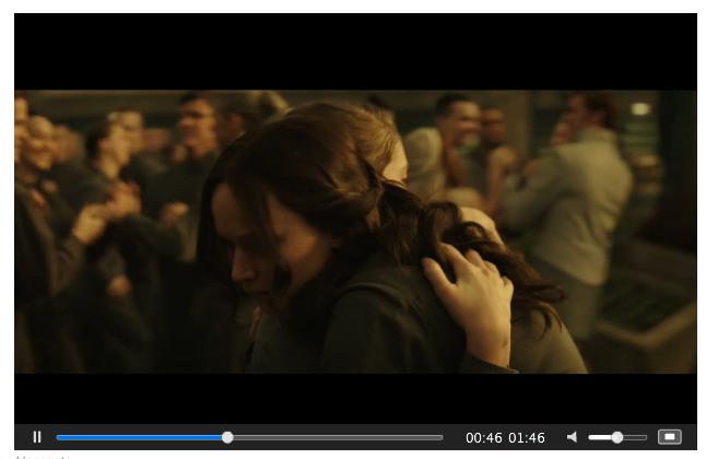 Mockingjay Part 2 screenshot of Katniss and Prim
